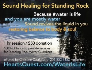 sound healing for standing rock