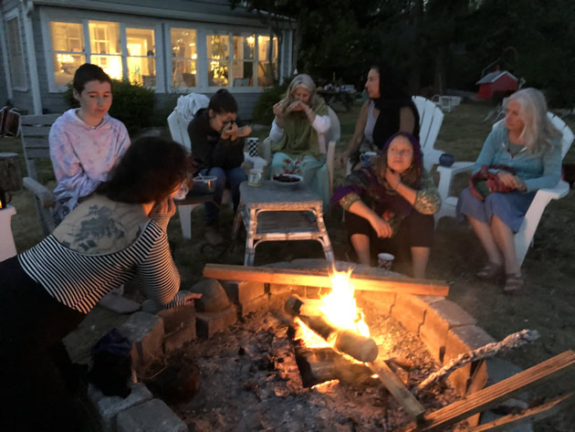 mermaid temple creative retreat for women fire circle